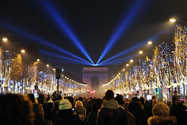 NYE on the Champs-Elysees, Paris, France