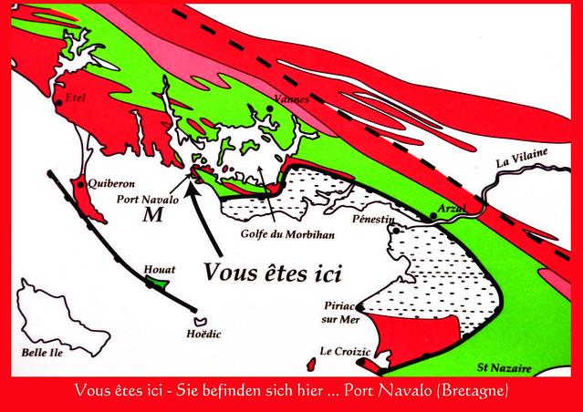 """Vous êtes ICI - Sie befinden sich HIER: Port Navalo in der Bretagne. Heute mal bei Ebbe. Botanische Überraschung: In der Nähe des alten Bahnhofs entdecke ich eine Flockige Königskerze (Verbascum pulverulentum) - was das wohl auf Französisch heißt ??? Hildegard von Bingen setzte sie als Heilpflanze für """"ein traurig Herz"""" ein. In Deutschland ist diese Wildpflanze teilweise stark gefährdet ... und hier in Port Navalo steht sie einfach so herum, toll. - Foto: Brigitte Stolle 2016"""