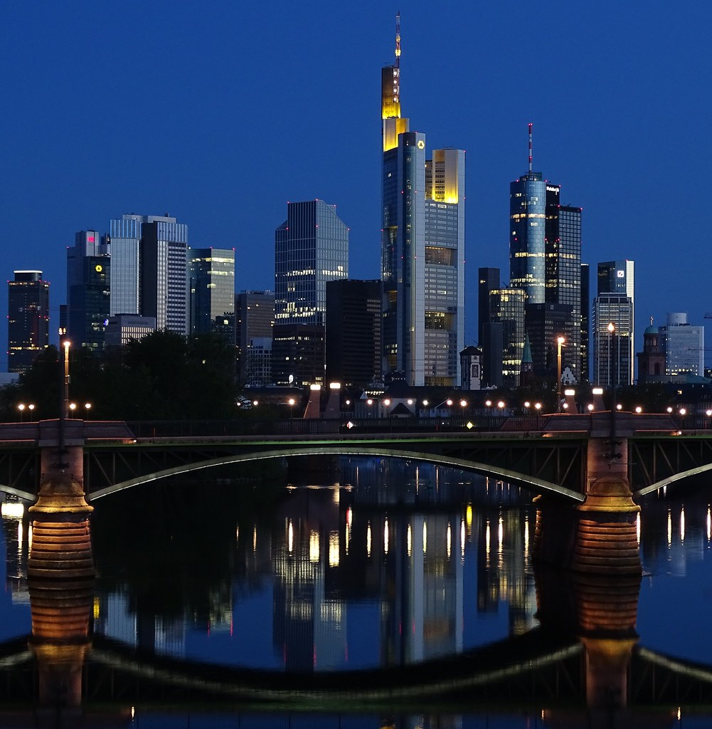 Morgen Frankfurt skyline frankfurt am beim frühen morgen skyline frank flickr