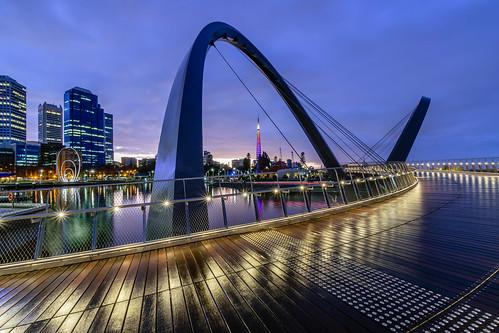 Elizabeth Quay at Dawn, Perth