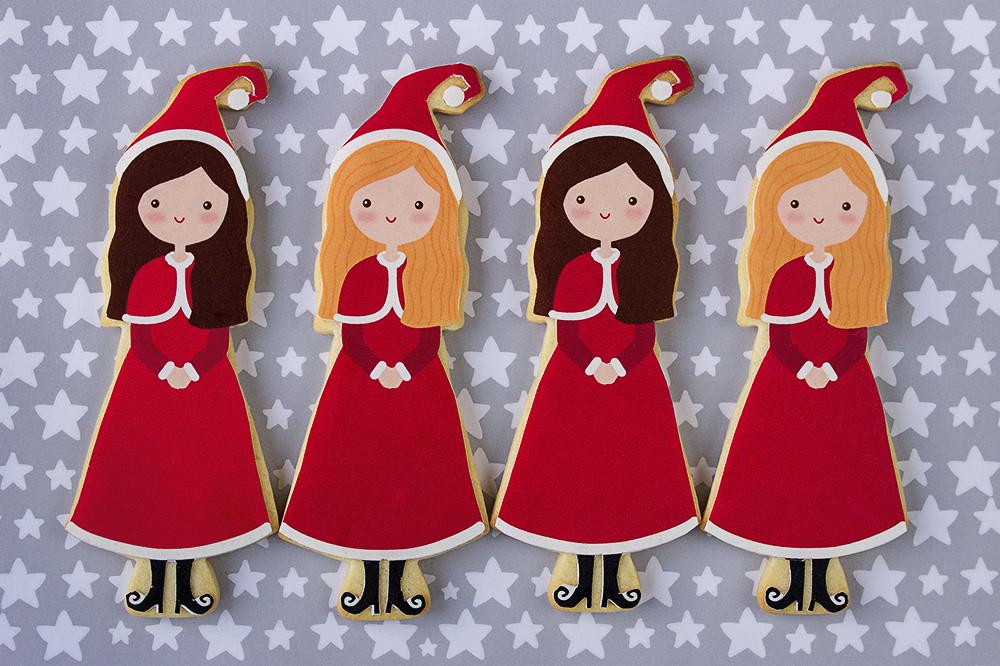 Galletas decoradas niñas Navidad