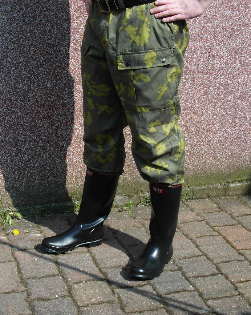 Black Century wellies and camo pants   zeesenboot   Flickr
