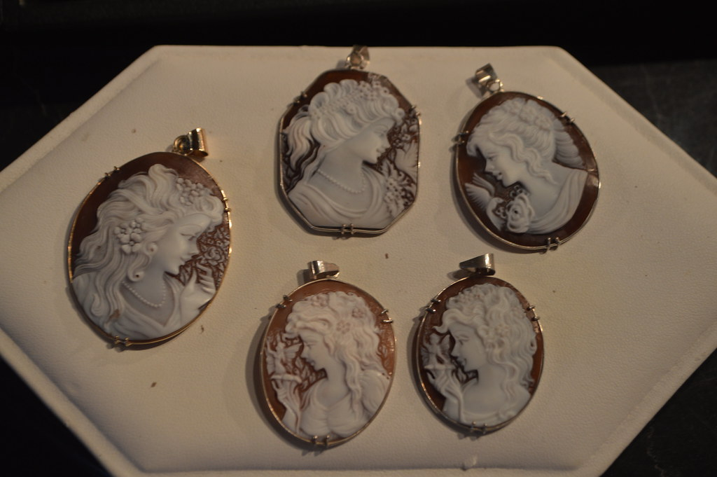 honduran hand carved cameo jewelry for sale at the stone c