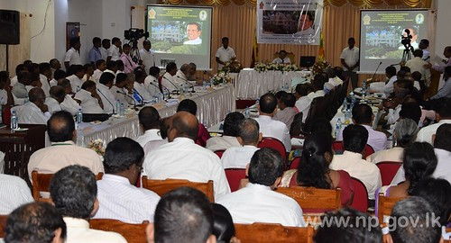 President chaired at Provincial Coordination Meeting of NP in Jaffna – 03 March 2015
