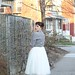 New Year's Eve outfit: Anthropologie white tulle skirt, black and white gingham skirt