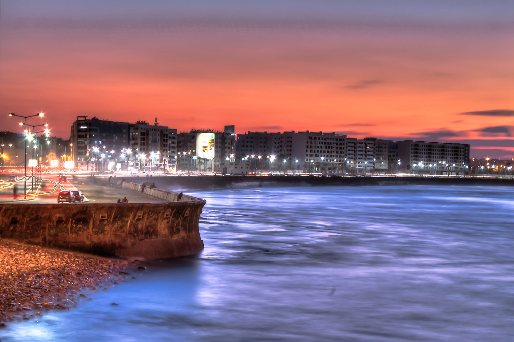 Ain diab casablanca morocco hdr photo sunset morocco - Marocco casablanca ...
