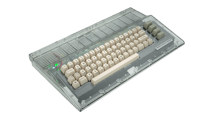 Commodore 64C computer housings pressed from original molds