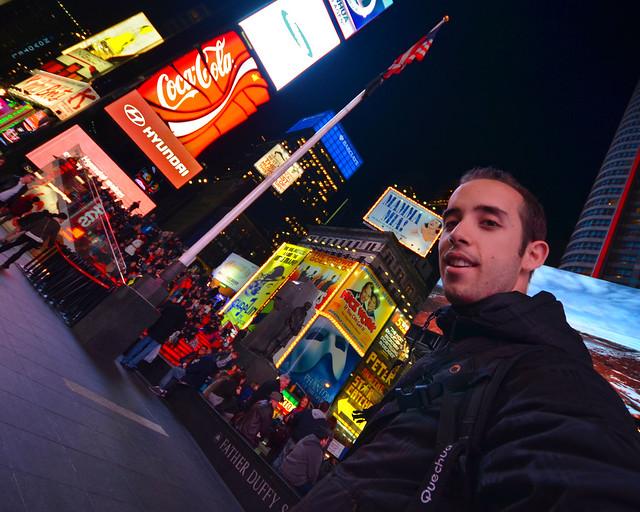 En Times Square a puntito de contaros algunos consejos para viajar a Nueva York