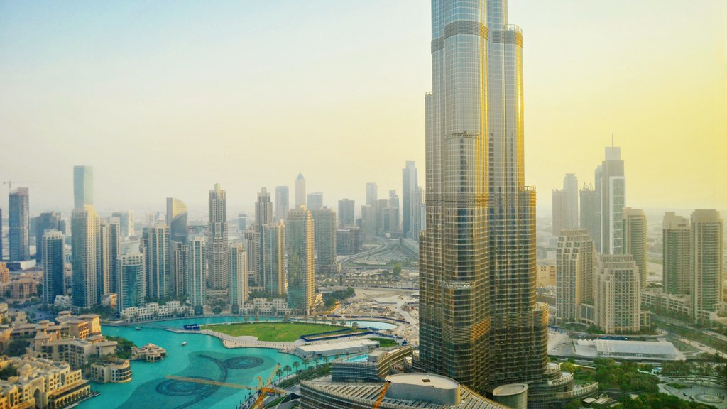Dubai The View From The 46th Floor 160m Hieght Of The