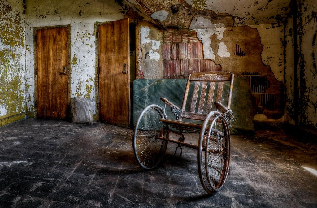 Wooden Wheelchair | The Abandoned Pennhurst Asylum May ...