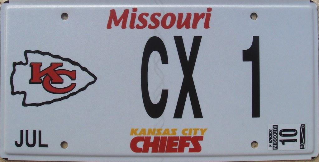 kansas city chiefs personalized license plate (missouri) f…   flickr