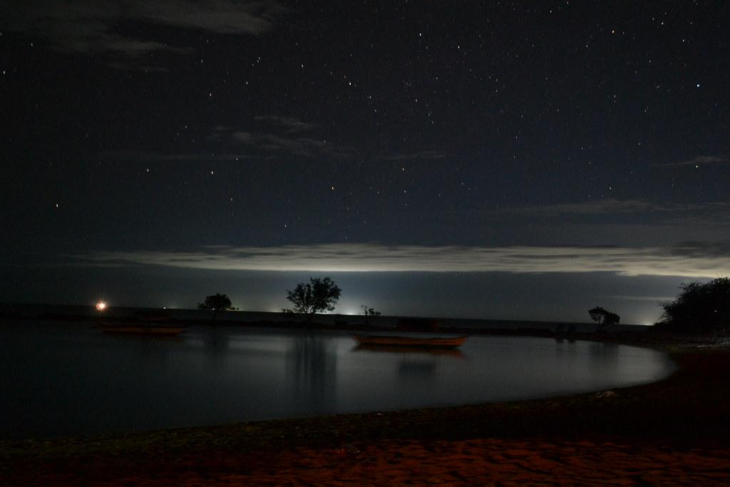 Night Landscape At Burot Beach