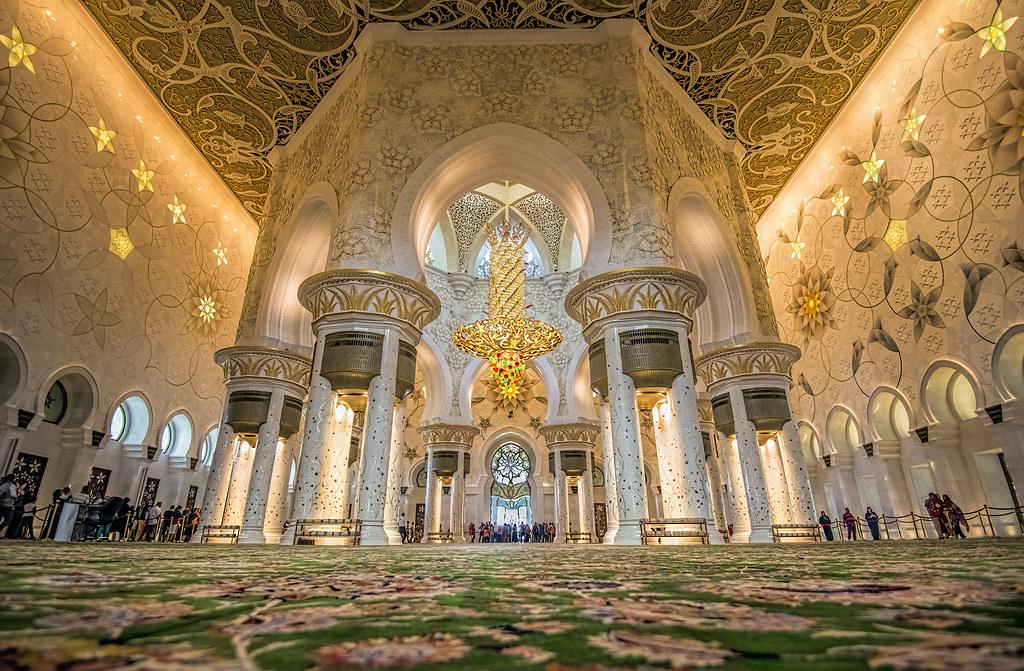 Moschea dello sceicco zayed abu dhabi la sala di for Al manzool decoration abu dhabi