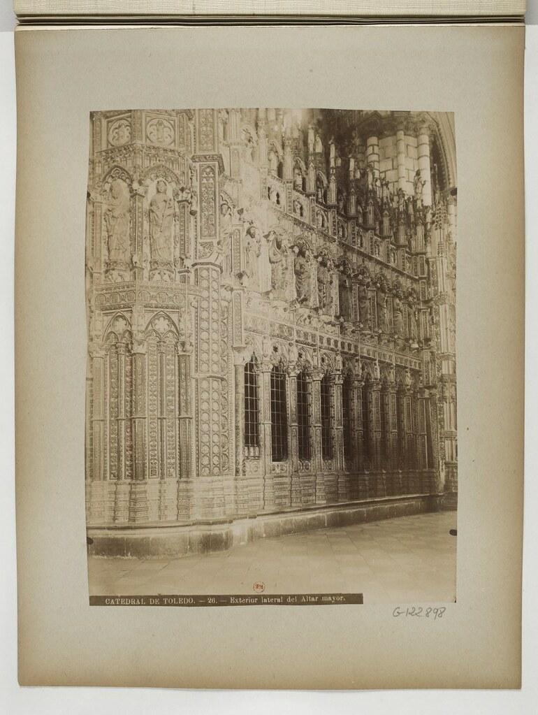Catedral de Toledo hacia 1897. Fotografía de Rafael Garzón.  Bibliothèque Nationale de France