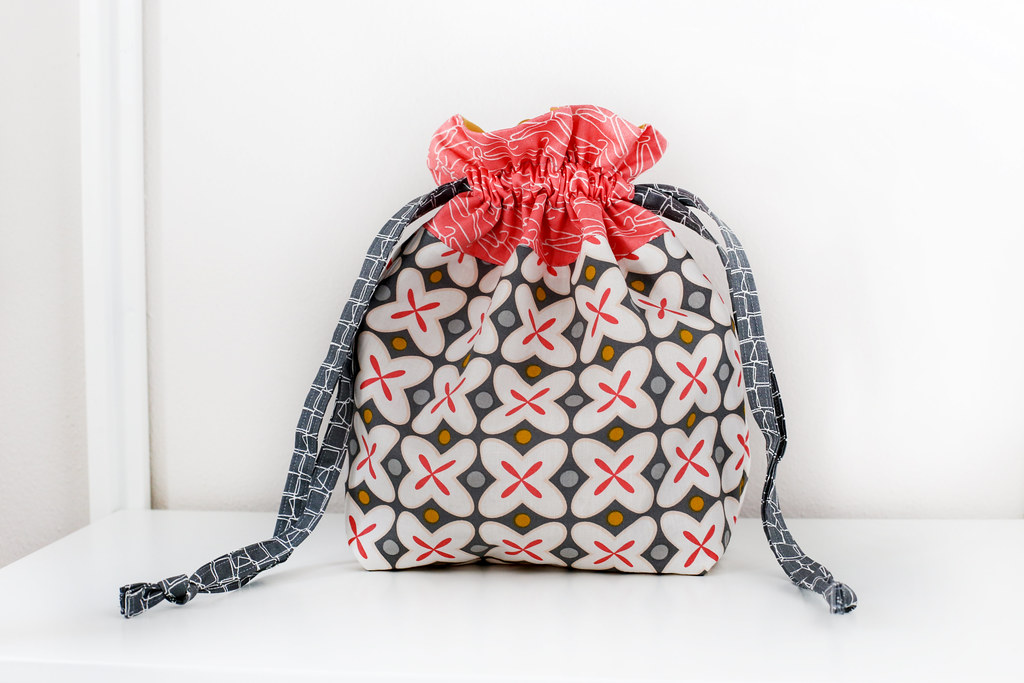 ... Lined Drawstring Bag with Zipper Pouch  66a00d8fc65d