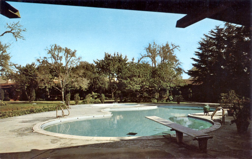 Beautiful ... Greenbrier Inn Pool, Garden Grove | By Orange County Archives Great Pictures
