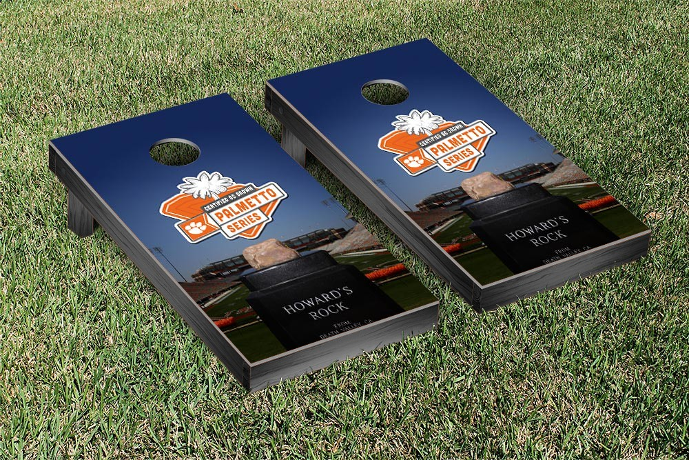 Clemson Tigers Cornhole Game Palmetto Series Version