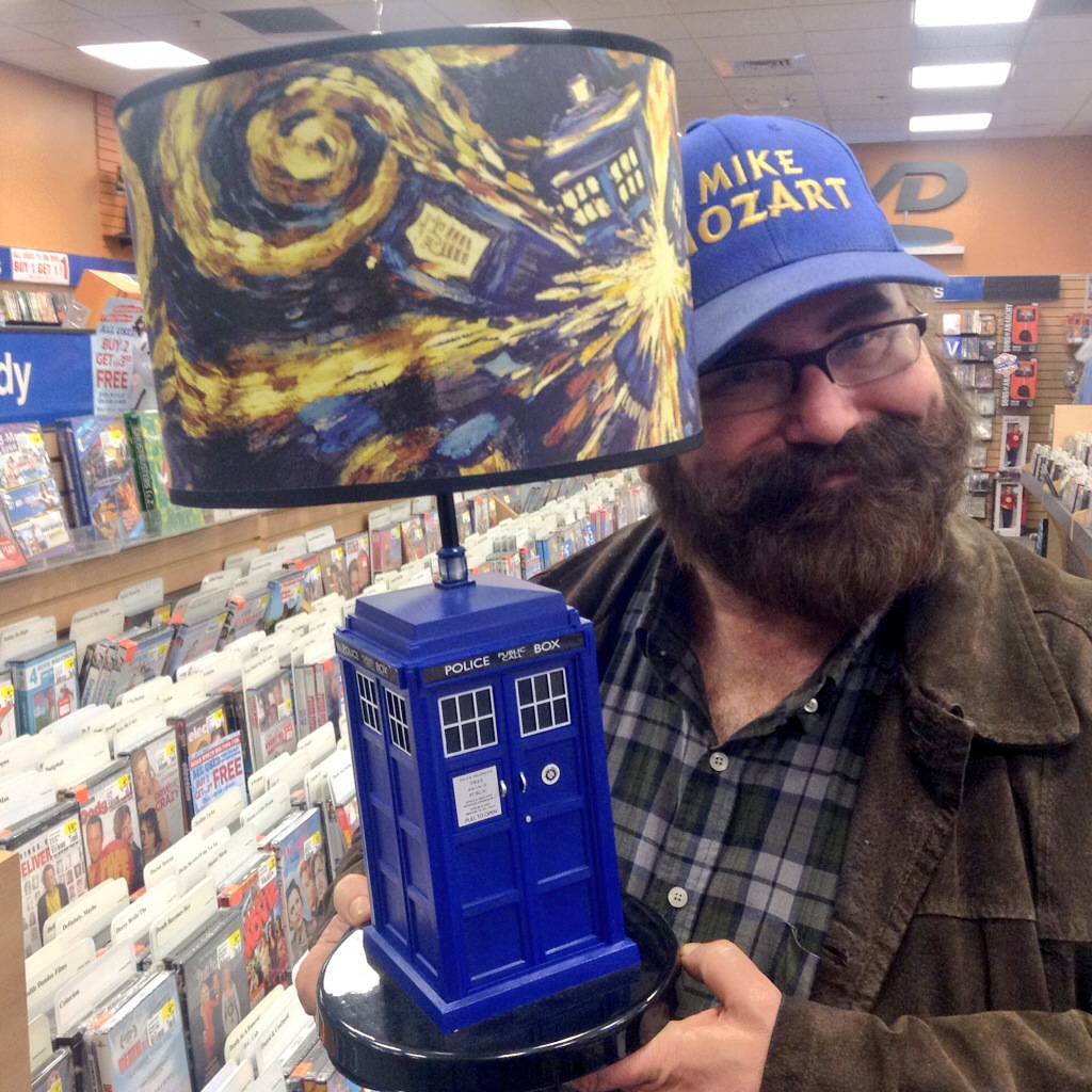 By Mike Dr Who Tardis Lamp At FYE Stores In The USA. Doors Open! By Mike