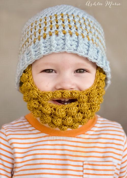 babies look sooo cute in bobble bearded beanies, free patt… | Flickr