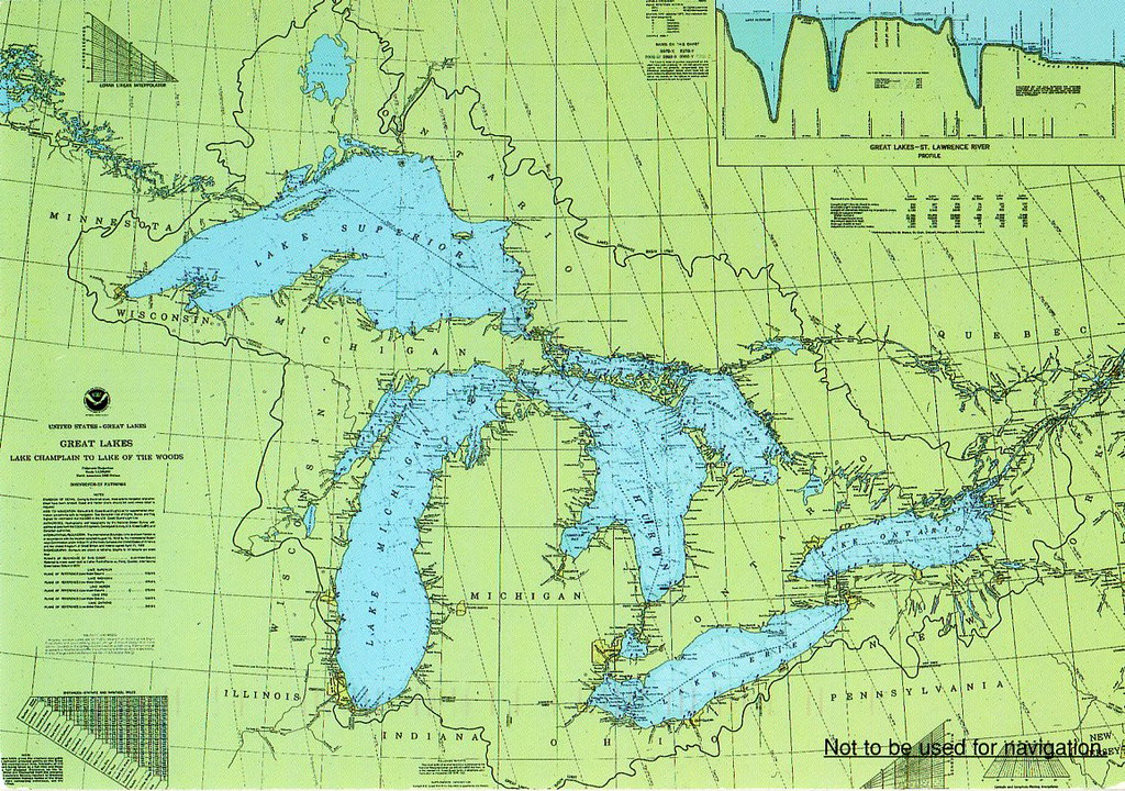 Map Of Usa Great Lakes.Pk Great Lakes Chart Map Usa And Canada Not For Swap Flickr