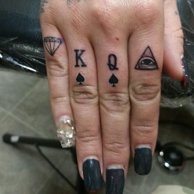 Finger Tattoos Diamond Diamante Piramid Eye Kingofspa Flickr