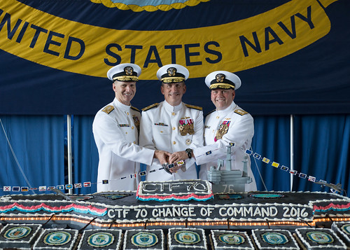 YOKOSUKA, Japan (July 29, 2016) – Commander, Task Force 70 (CTF 70) held a change of command ceremony on board aircraft carrier USS Ronald Reagan (CVN 76) while the ship was in port Yokosuka, Japan, July 29.