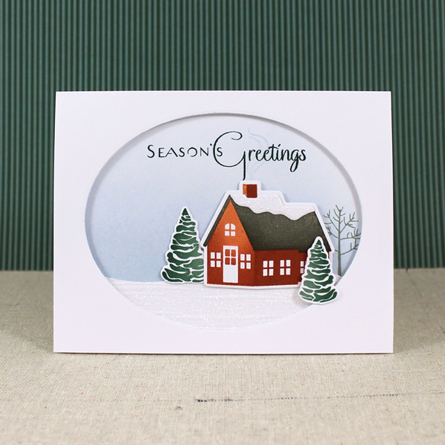 Snowy Season's Greetings Card