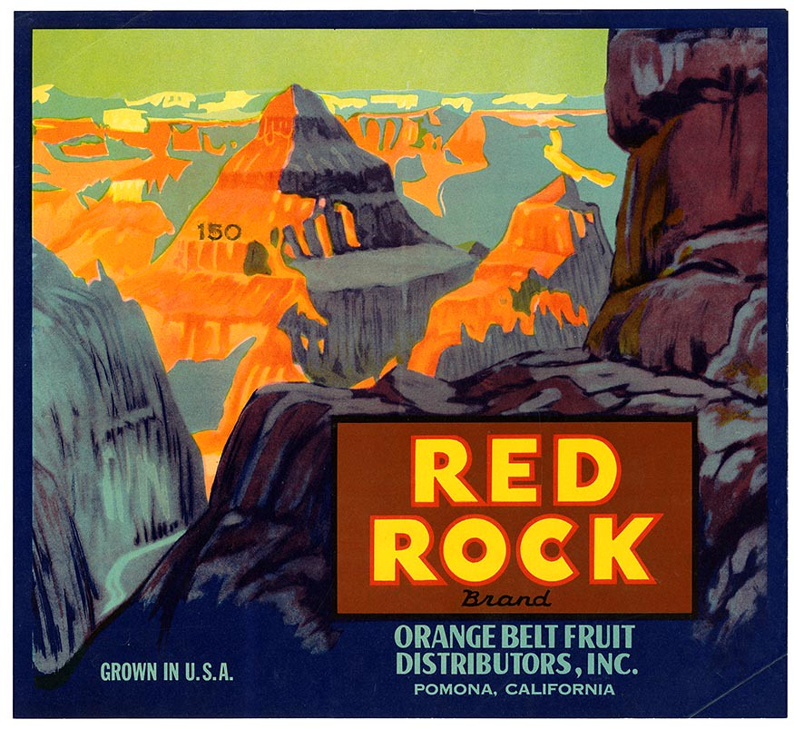 Citrus crate label, Red Rock Brand, Lehmann Printing and Lithographing Co . | by California Historical Society Digital Collection