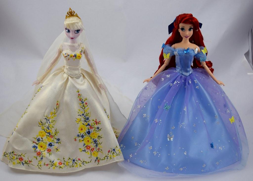 Wedding Elsa and Royal Ball Ariel - Disney Store Dolls Red… | Flickr