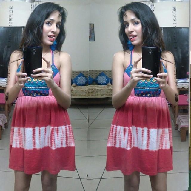 Teen selfie Indian girl mirror