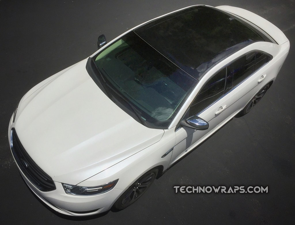 Black Vinyl Roof Wrap On Ford Car In Orlando Ford Taurus V Flickr