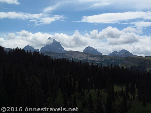 Sometimes when the weather isn't supposed to be good, we just take a less-exciting trail and wait out the clouds, like when we took the Andy Stone Trail in the Tetons, Wyoming
