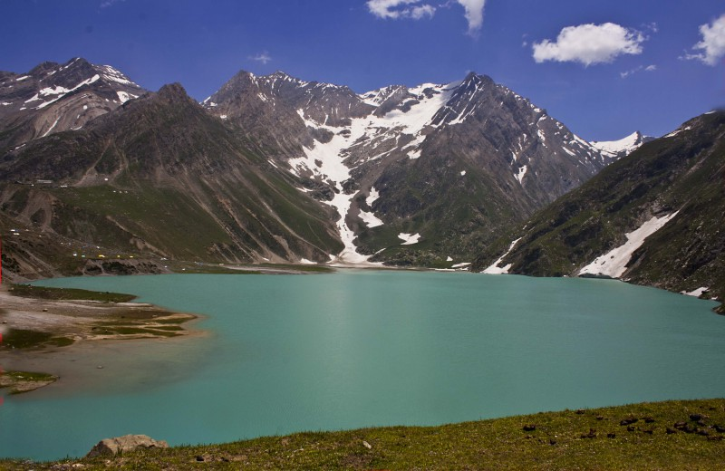 Sheshnag Lake during Amarnath Yatra 2016, Jammu and Kashmir, India