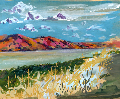 Sketchbook #98: Shoreline in Gouache