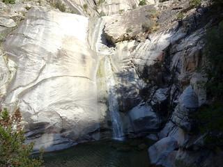 La 1ère cascade de 40m de la Purcaraccia