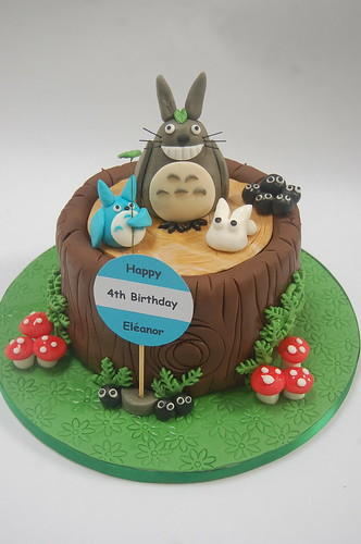 Another first on us - Totoro is a Japanese animation. Totoro Cake by www.beautifulbirthdaycakes.co.uk