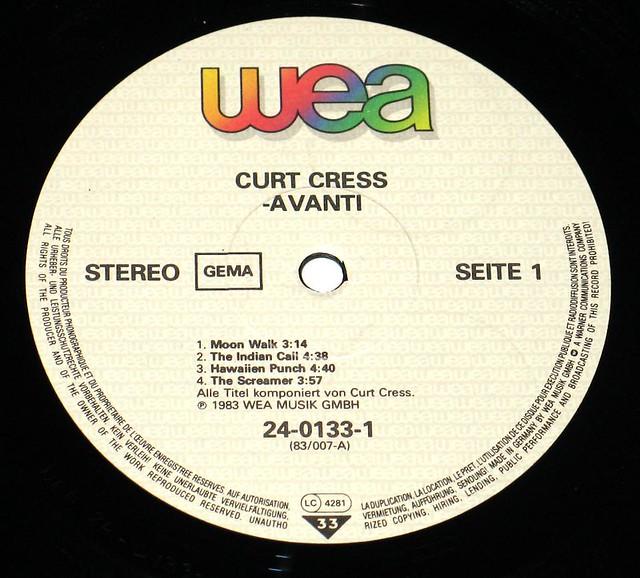 CURT CRESS AVANTI LP KRAUTER ROCK