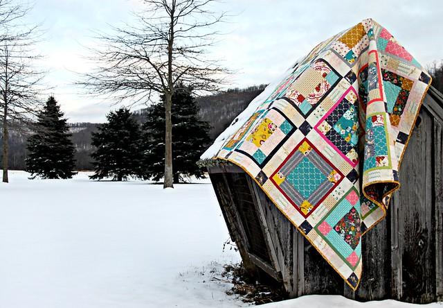 Winter's Garden Quilt in Emmy Grace