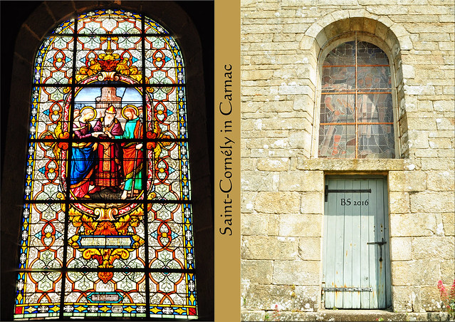 Carnac Bretagne Ort Kirche Saint-Cornély prähistorisches Museum - Fotos und Fotocollagen: Brigitte Stolle 2016