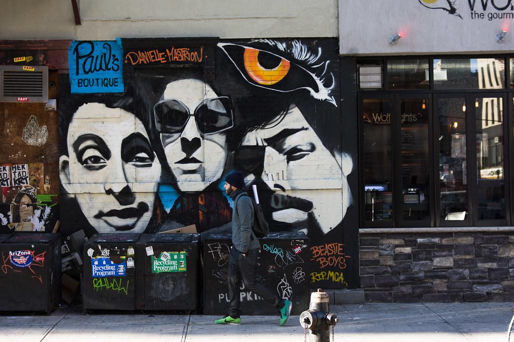 Beastie boys mural in lower east side dan deluca flickr for Beastie boys mural