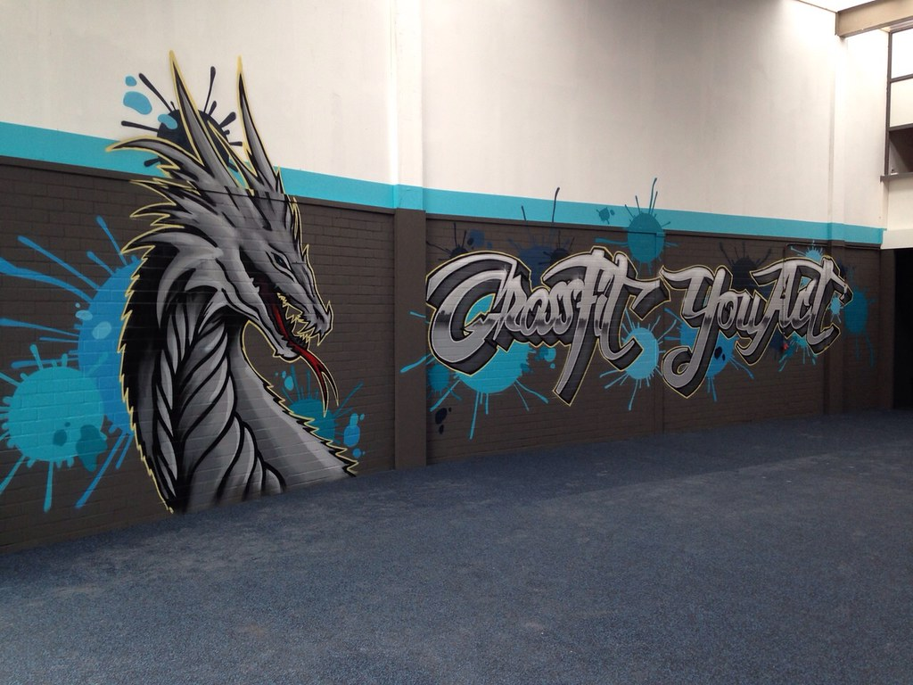 Crossfit Gym Graffiti Muurschildering Sportschool Workout