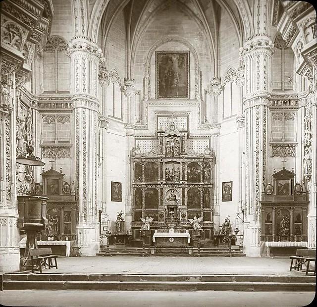 San Juan de los Reyes hacia 1905 fotografiado por Alois Beer. Fotografía editada y publicada por E. Mazo para linterna mágica MTFFD026495_P