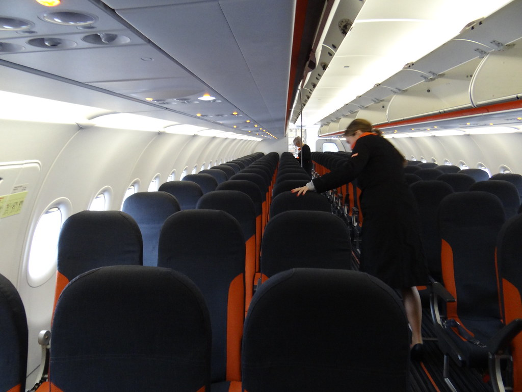 Easyjet A320 G Ezwr Cabin Taken Upon Arrival From