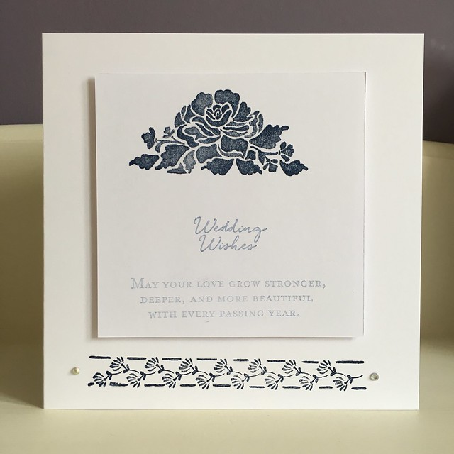 Wedding Wishes cards by StickerKitten using Stampin' Up Floral Phrases stamps and Night of Navy ink