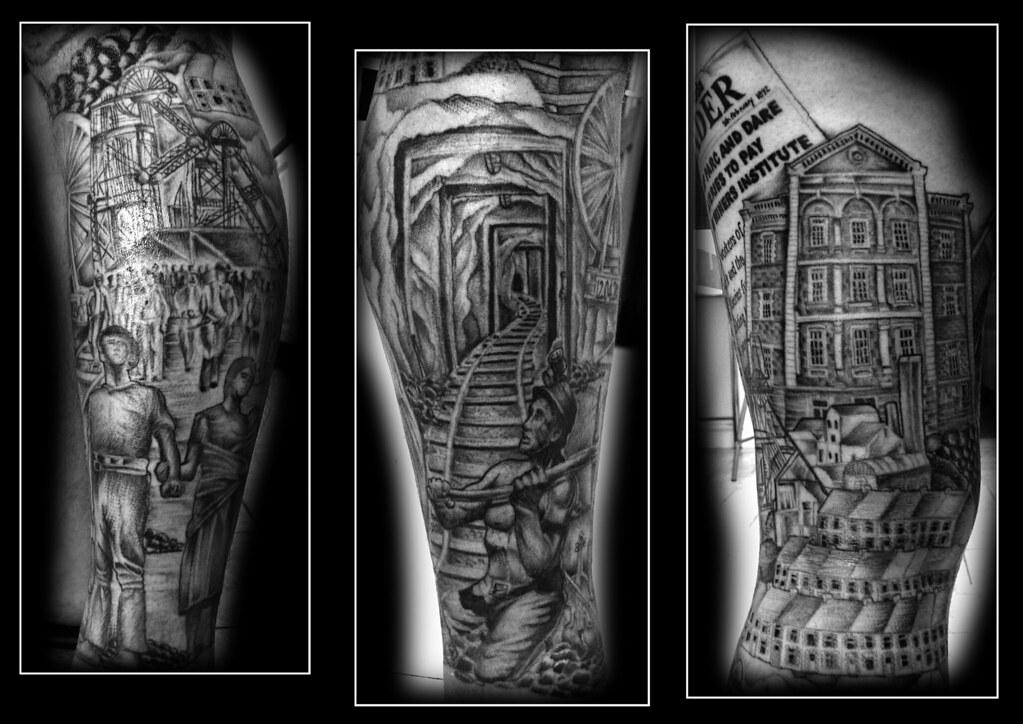 miners rhondda welsh tattoo by ray tutty tattoo studio flickr. Black Bedroom Furniture Sets. Home Design Ideas