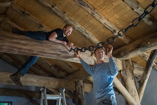 Erik & Tyler Installing Hand Forged Chain | by goingslowly