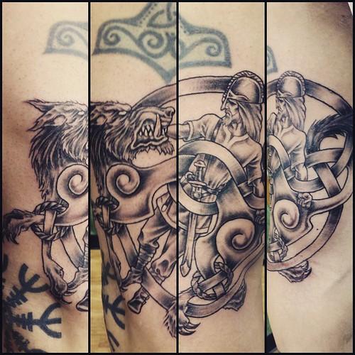 #Tyr #Fenrir #tattoo #TheMightyHorsemanTattooCo #Högnell ...