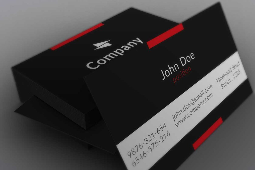 Minimalistic Black Business Card Template | Today we are pre… | Flickr