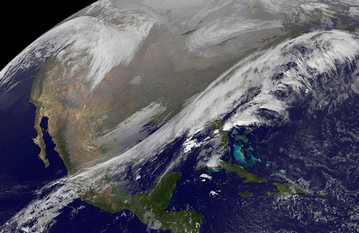 Satellite Views Early Thanksgiving Travel Trouble Areas In Flickr - World satellite view of weather