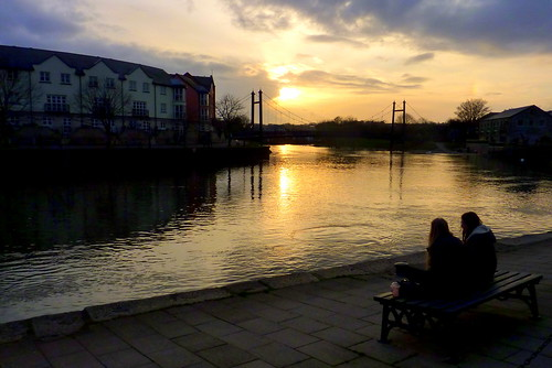 Exeter - sunset at The Quay